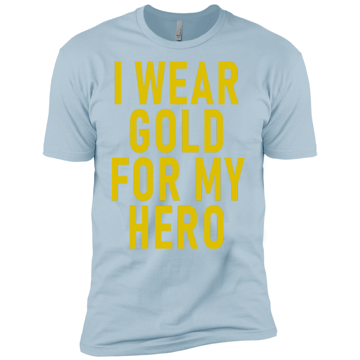 I Wear Gold For My Hero Men's Classic Tee