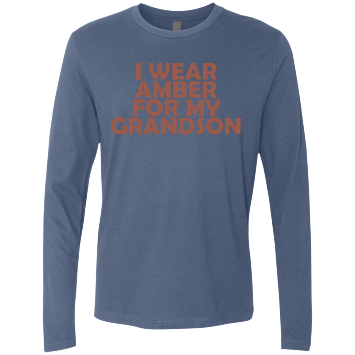 I Wear Amber For My Grandson Men's Long Sleeve Tee