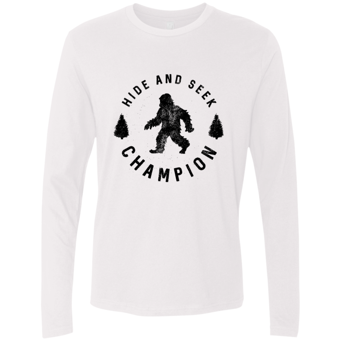 Hide and Seek Champion Big Foot Men's Long Sleeve Tee