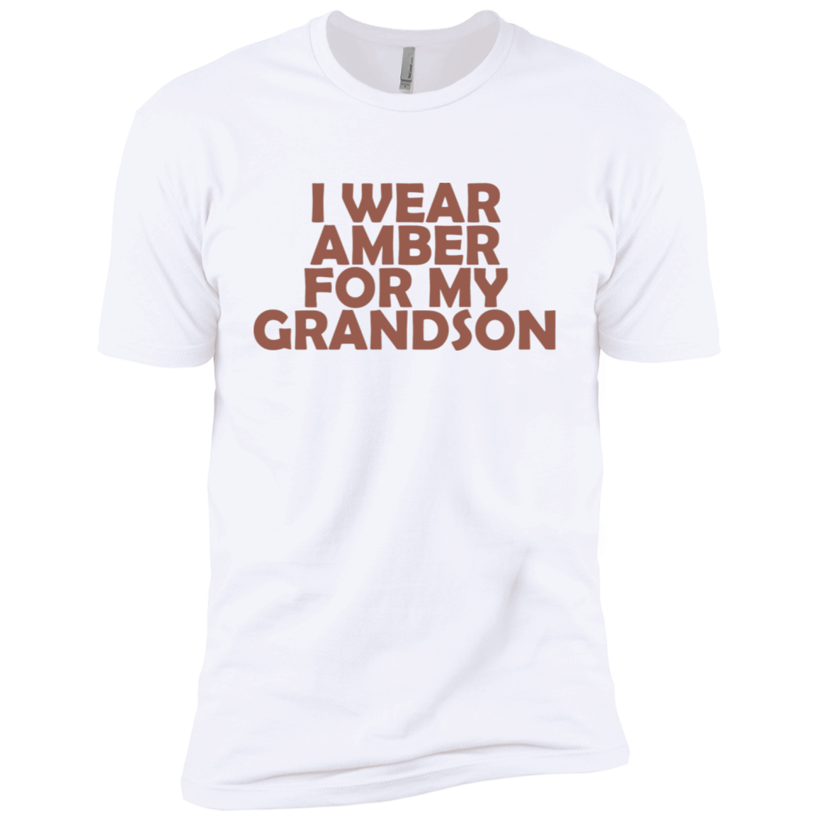 I Wear Amber For My Grandson Men's Classic Tee