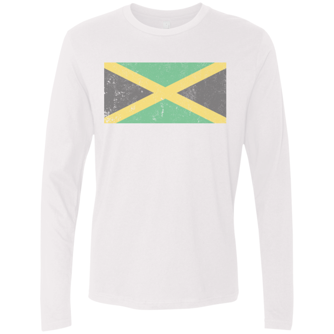 Jamaica Flag Logo Men's Long Sleeve Tee
