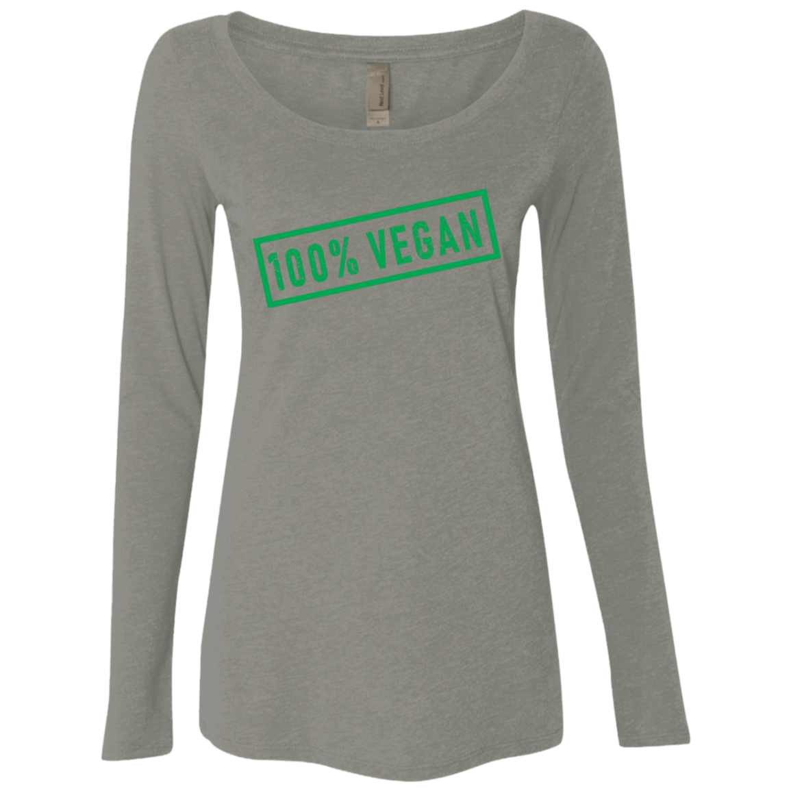 100' Vegan Women's Long Sleeve Tee
