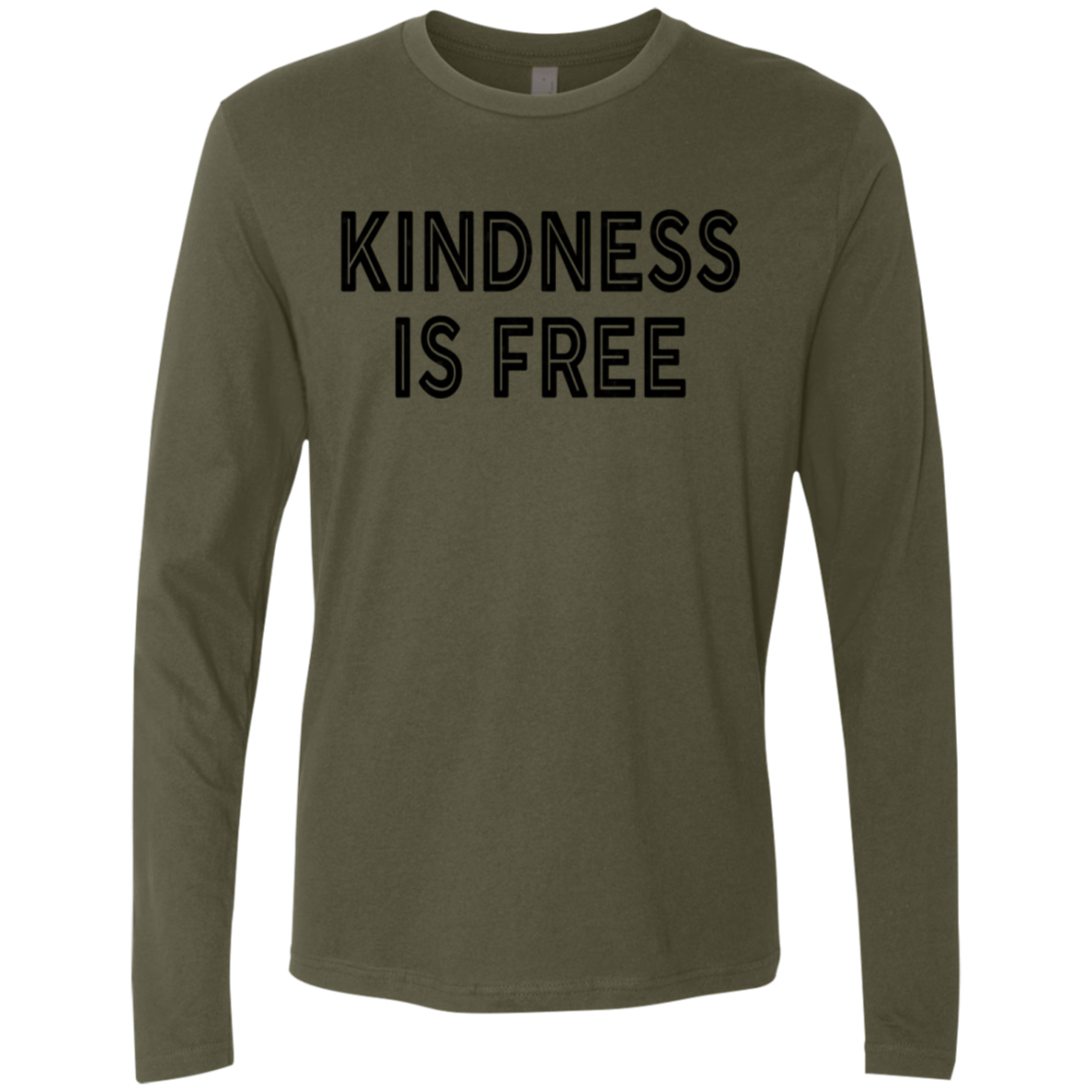 Kindness Is Free Men's Long Sleeve Tee