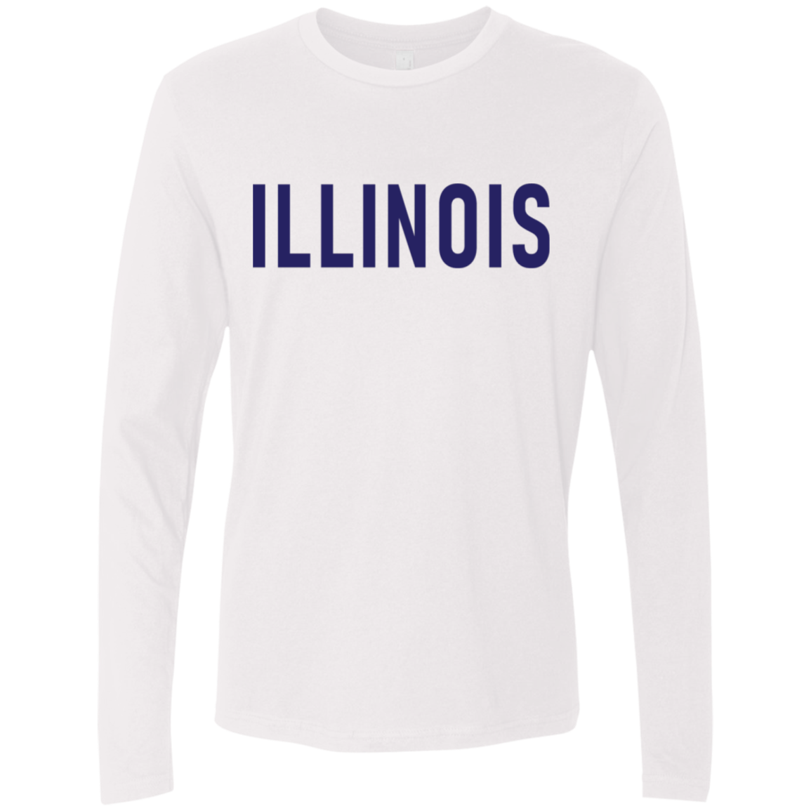 Illinois Blue Men's Long Sleeve Tee