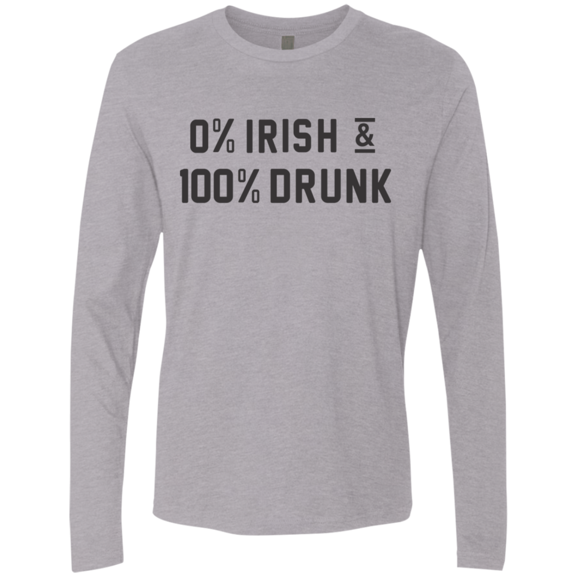 0'Irish 100'Drunk Men's Long Sleeve Tee