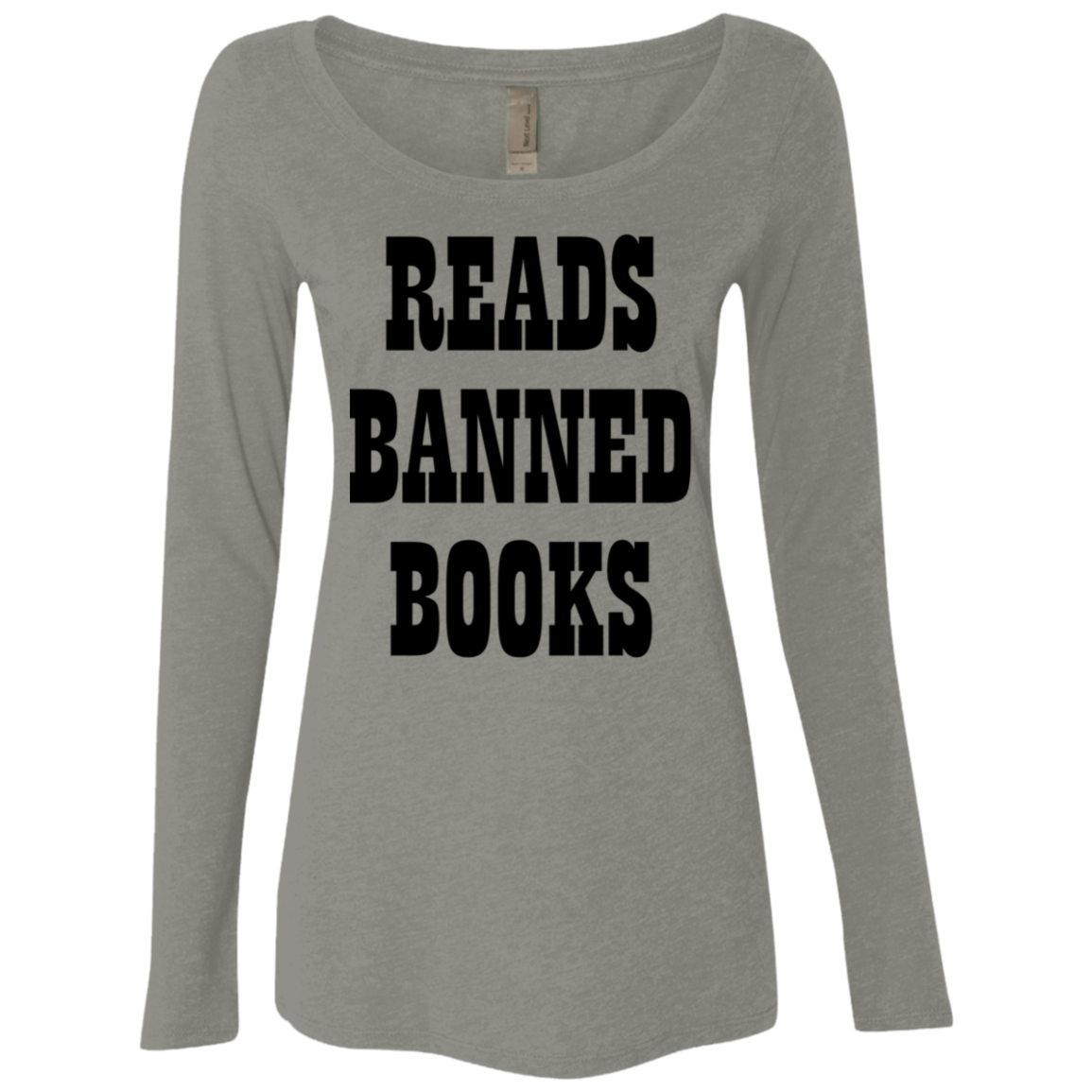 Reads Banned Books Women's Long Sleeve Tee