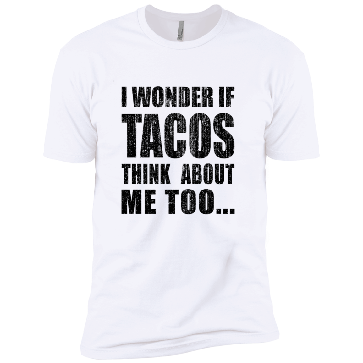 I Wonder If Tacos Think About Me Too Men's Classic Tee