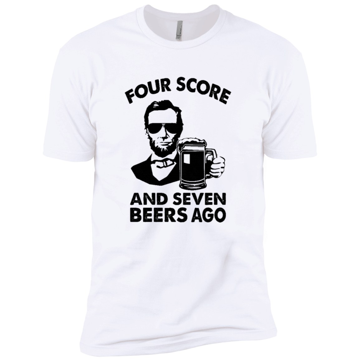 Four Score And Seven Beers Ago Men's Classic Tee