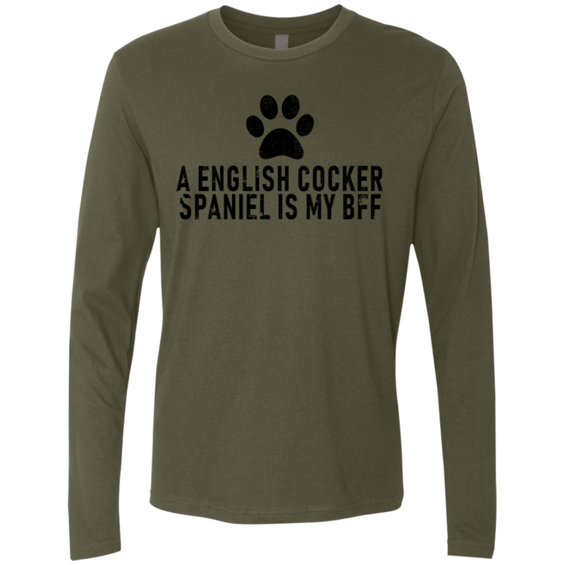 A English Cocker Spaniel Is My Bff Men's Long Sleeve Tee