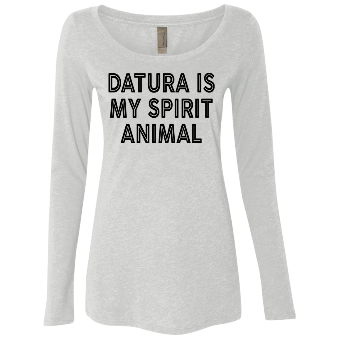 Datura Is My Spirit Animal Women's Long Sleeve Tee