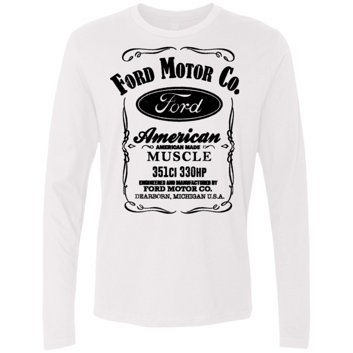 Ford Motor Co. – American Muscle Men's Long Sleeve Tee