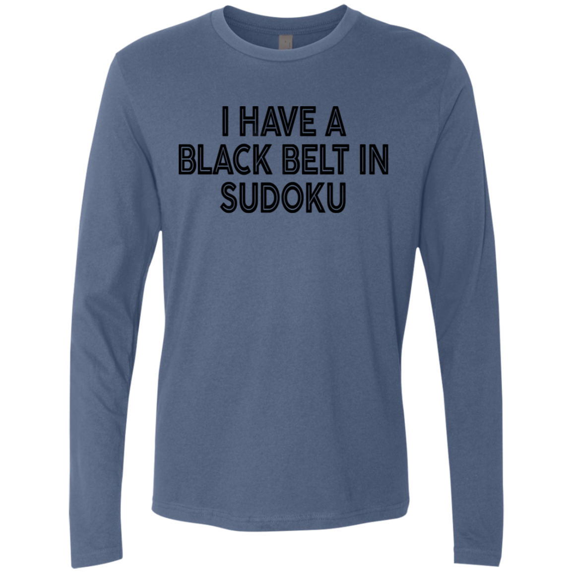 I Have A Black Belt In Sudoku Men's Long Sleeve Tee