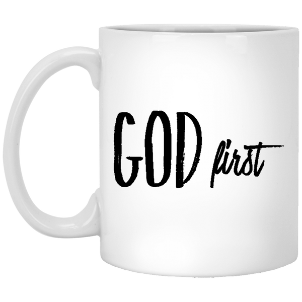 GOD First 11 oz. White Coffee Mug