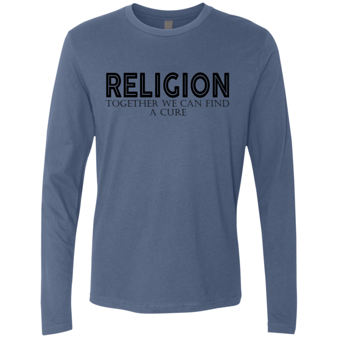 REligion Together We Can Find A Cure Men's Long Sleeve Tee