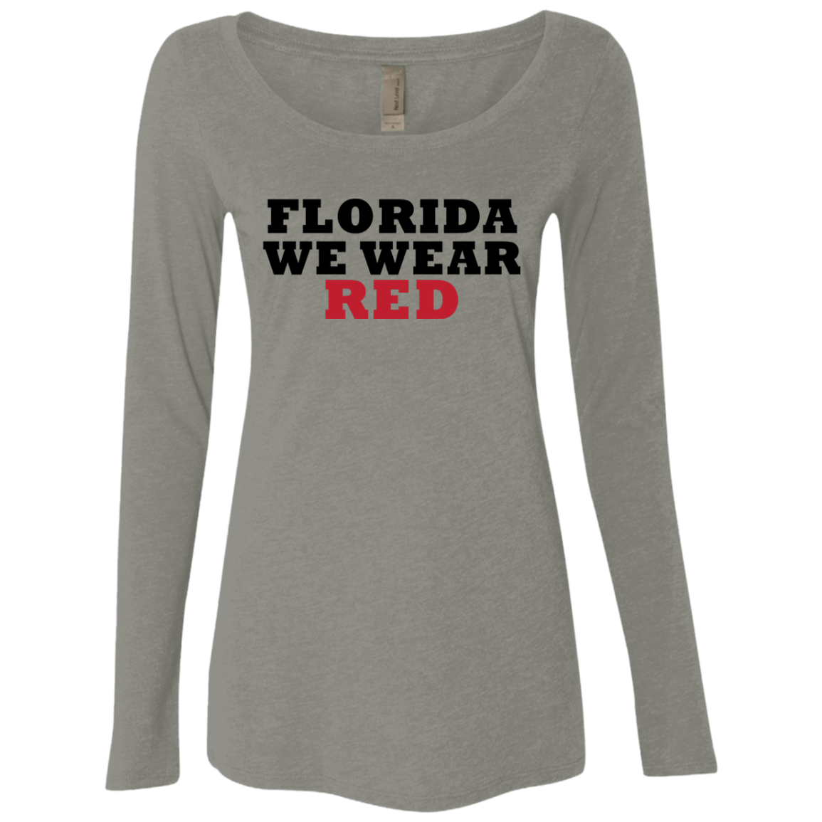 Florida We Wear Red Women's Long Sleeve Tee