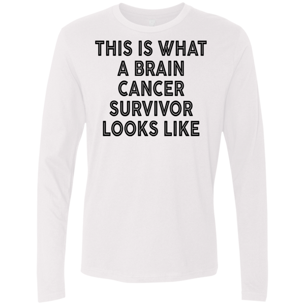 This Is What A Brain Cancer Survivor Looks Like Men's Long Sleeve Tee
