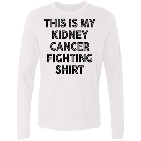 This Is My Kidney Cancer Fighting Shirt Men's Long Sleeve Tee