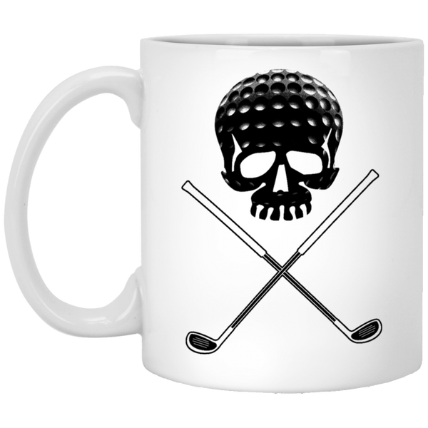 Golf Skull 11 oz. White Coffee Mug