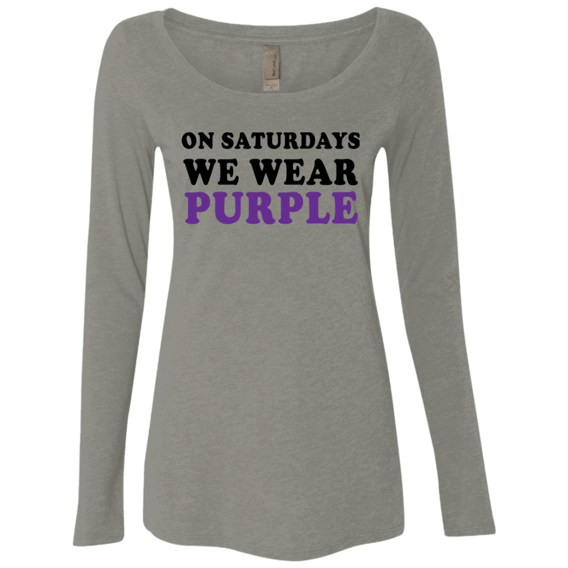 On Saturdays We Wear Purple Women's Long Sleeve Tee