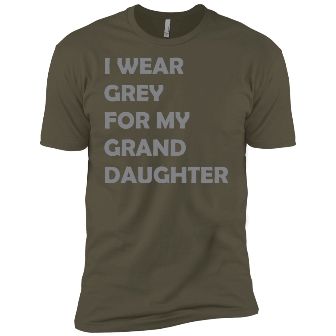 I Wear Grey For My Grand Daughter Men's Classic Tee