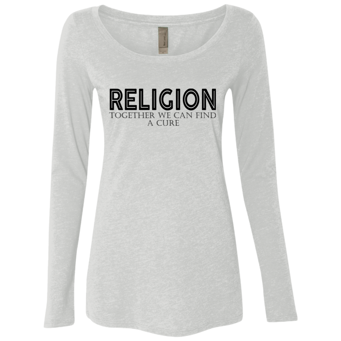 REligion Together We Can Find A Cure Women's Long Sleeve Tee