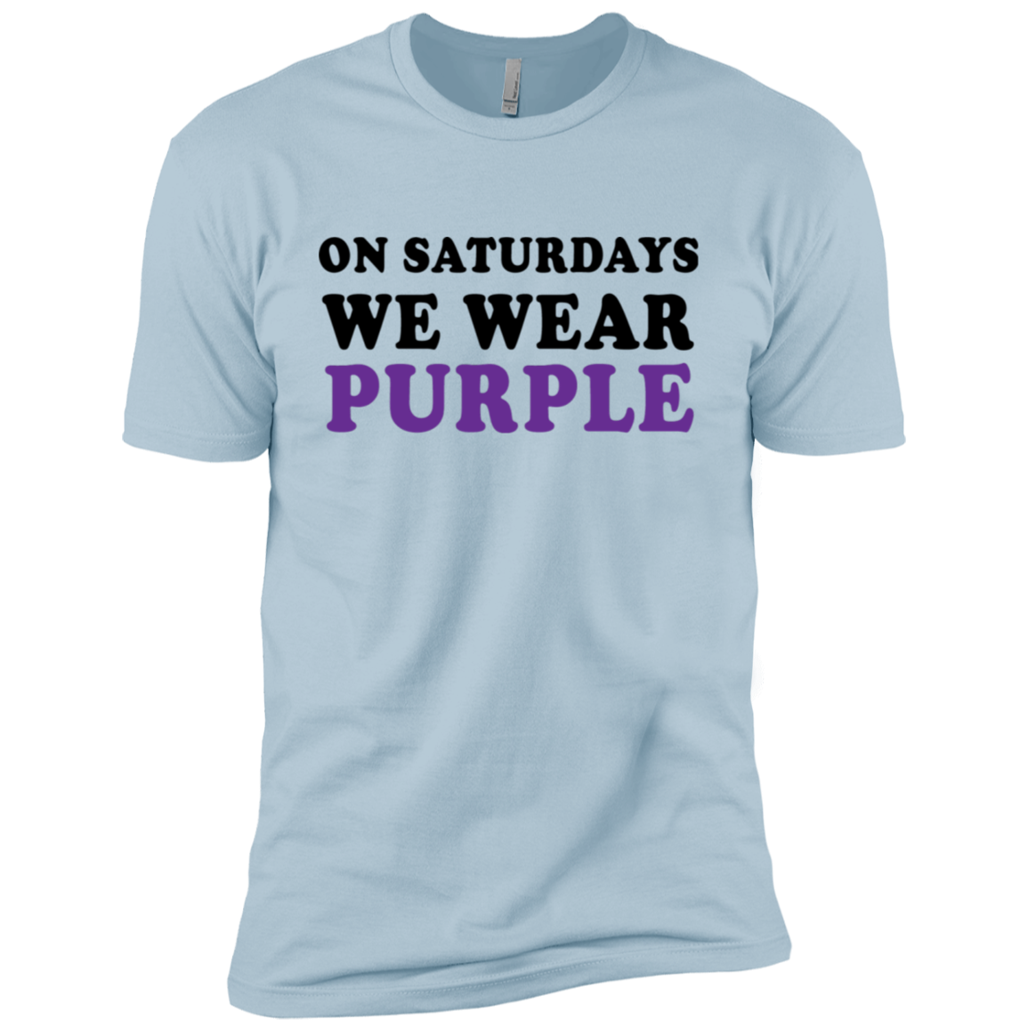 On Saturdays We Wear Purple Men's Classic Tee