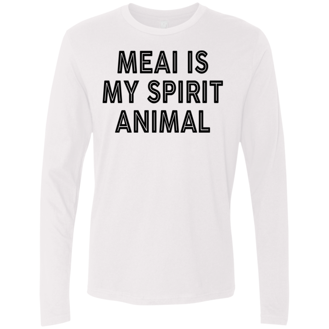 Meai Is My Spirit Animal Men's Long Sleeve Tee