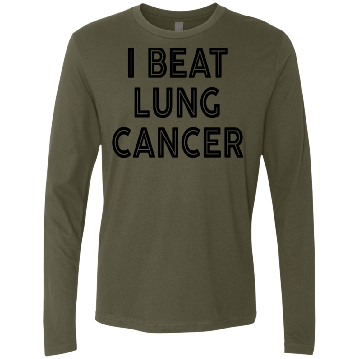 I Beat Lung Cancer Men's Long Sleeve Tee