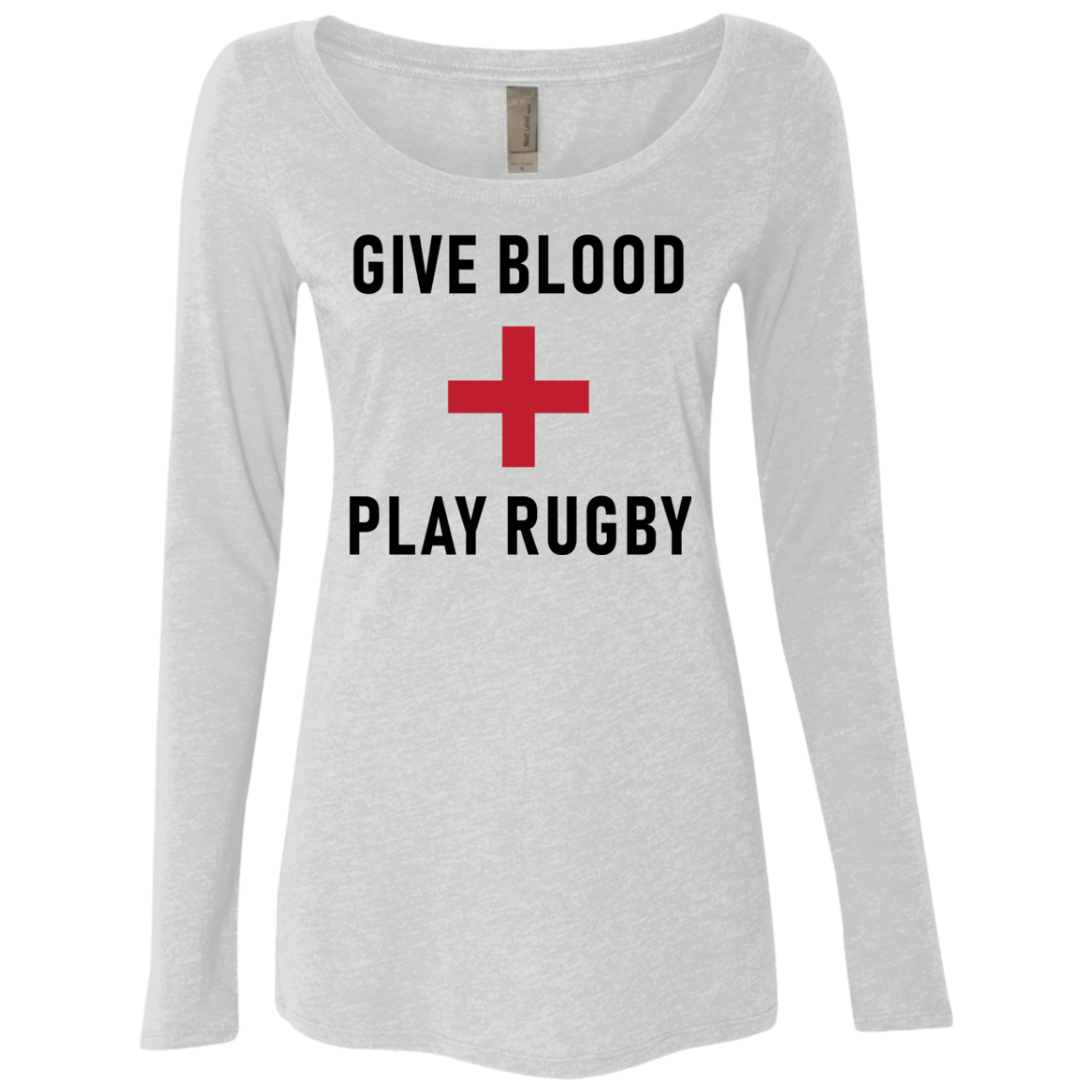 Give Blood Play Rugby Women's Long Sleeve Tee