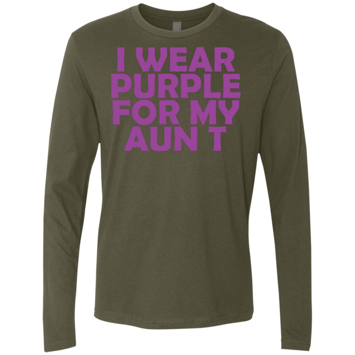I Wear Purple For My Aunt Men's Long Sleeve Tee