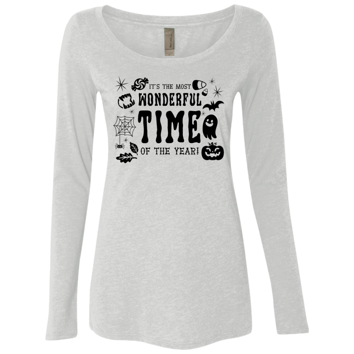 It's The Most Wonderful Time Of The Year Spooky Women's Long Sleeve Tee