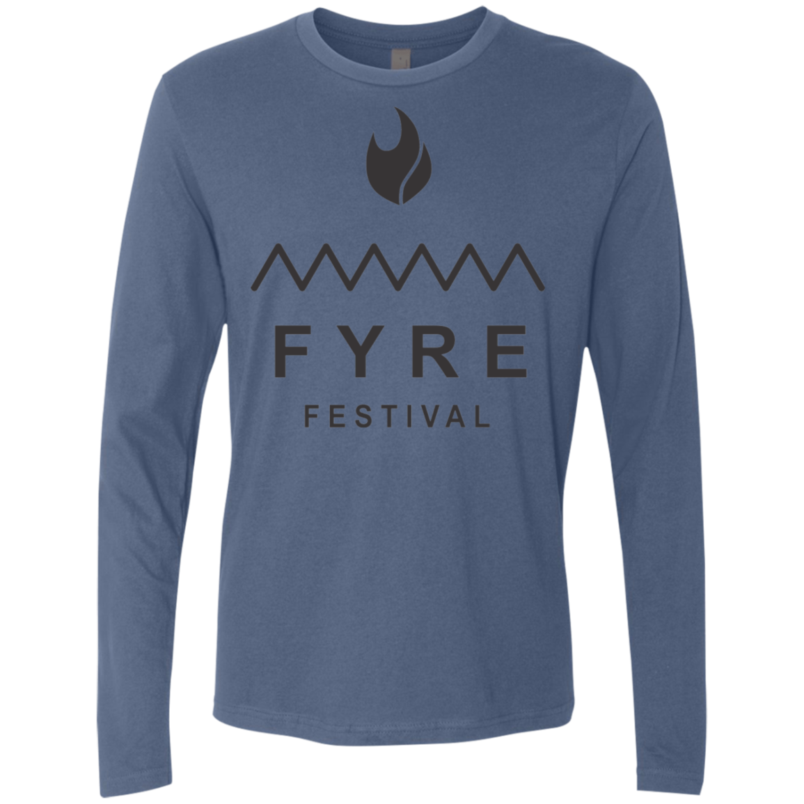 Fyre Festival was Lit Black Men's Long Sleeve Tee - Trendy Tees