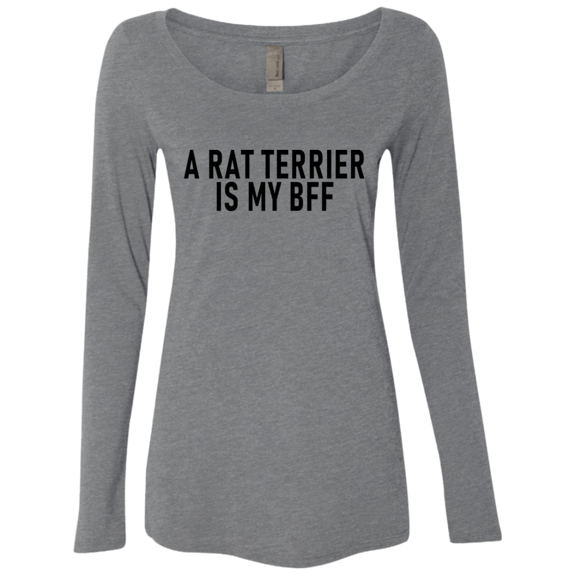A Rat Terrier Is My Bff Women's Long Sleeve Tee