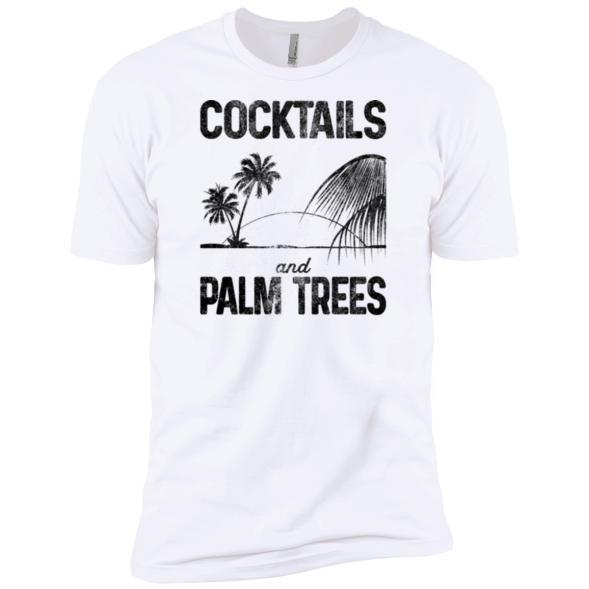 Cocktails and Palm Trees Men's Classic Tee - Trendy Tees