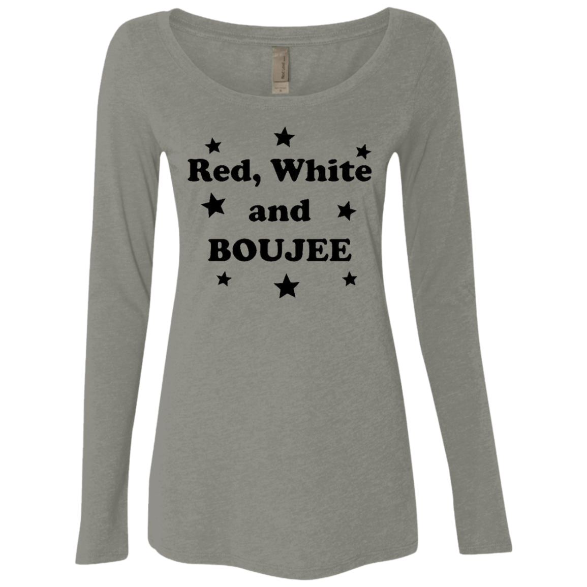 Red White And Boujee Women's Long Sleeve Tee