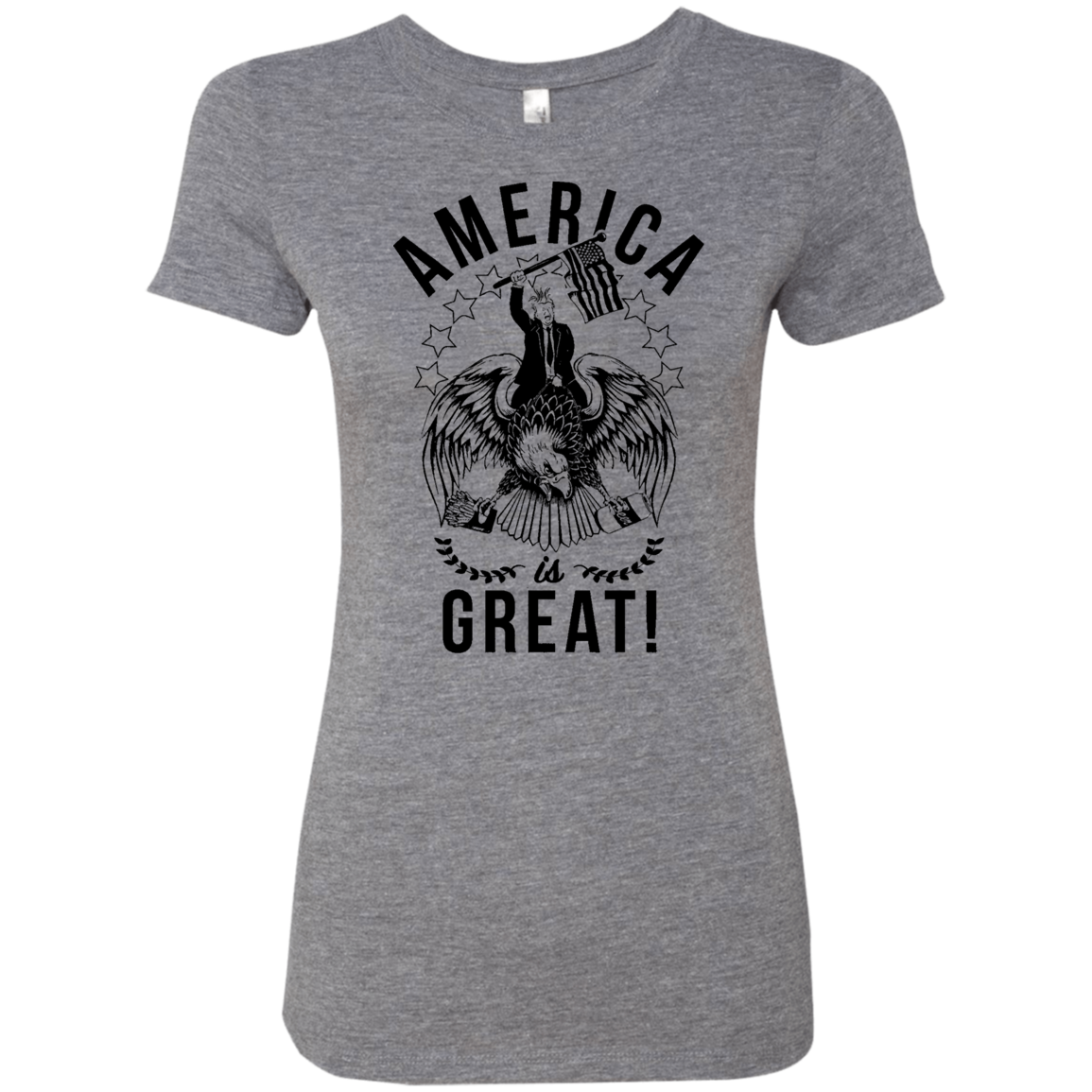 America is Great Trump Riding Eagle Women's Classic Tee - Trendy Tees