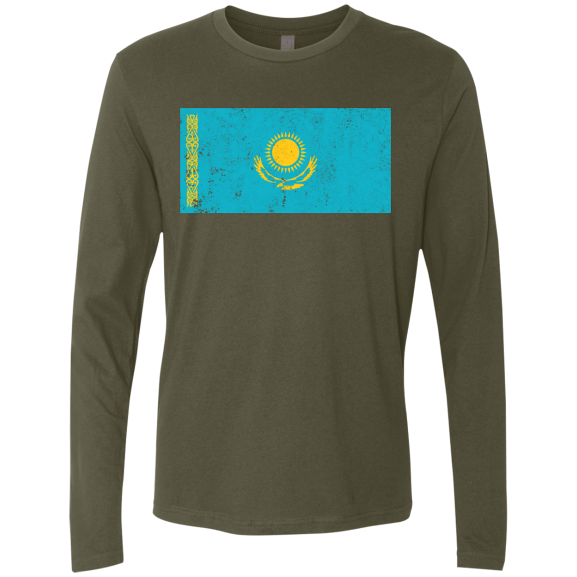 Kazakhstan Men's Long Sleeve Tee