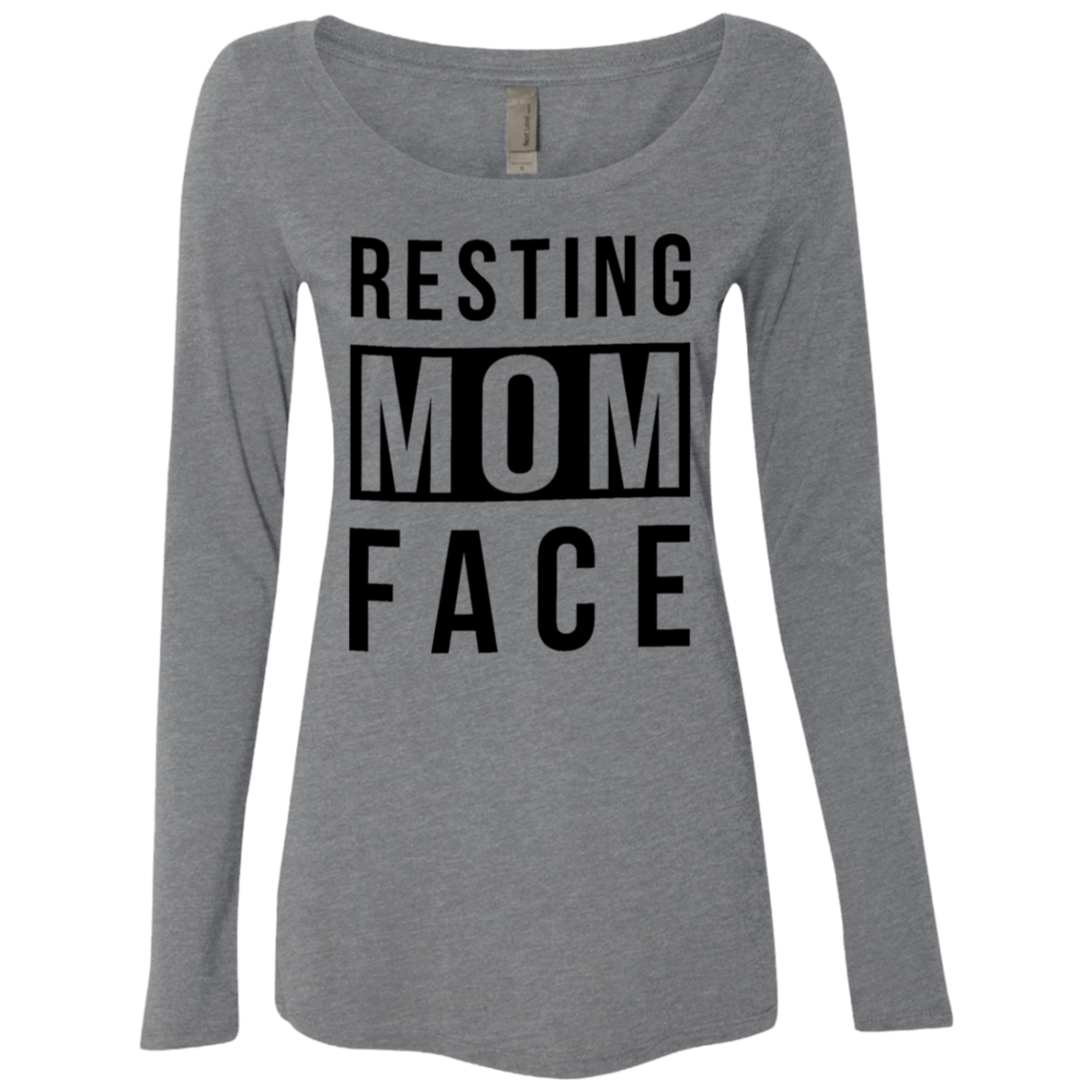 Resisting Mom Face Women's Long Sleeve Tee