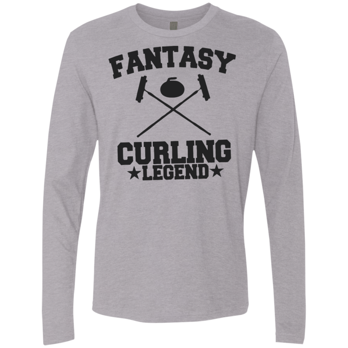 Fantasy Curling Legend Men's Long Sleeve Tee