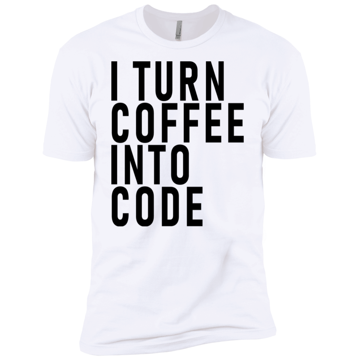 I Turn Coffe Into Code Men's Classic Tee