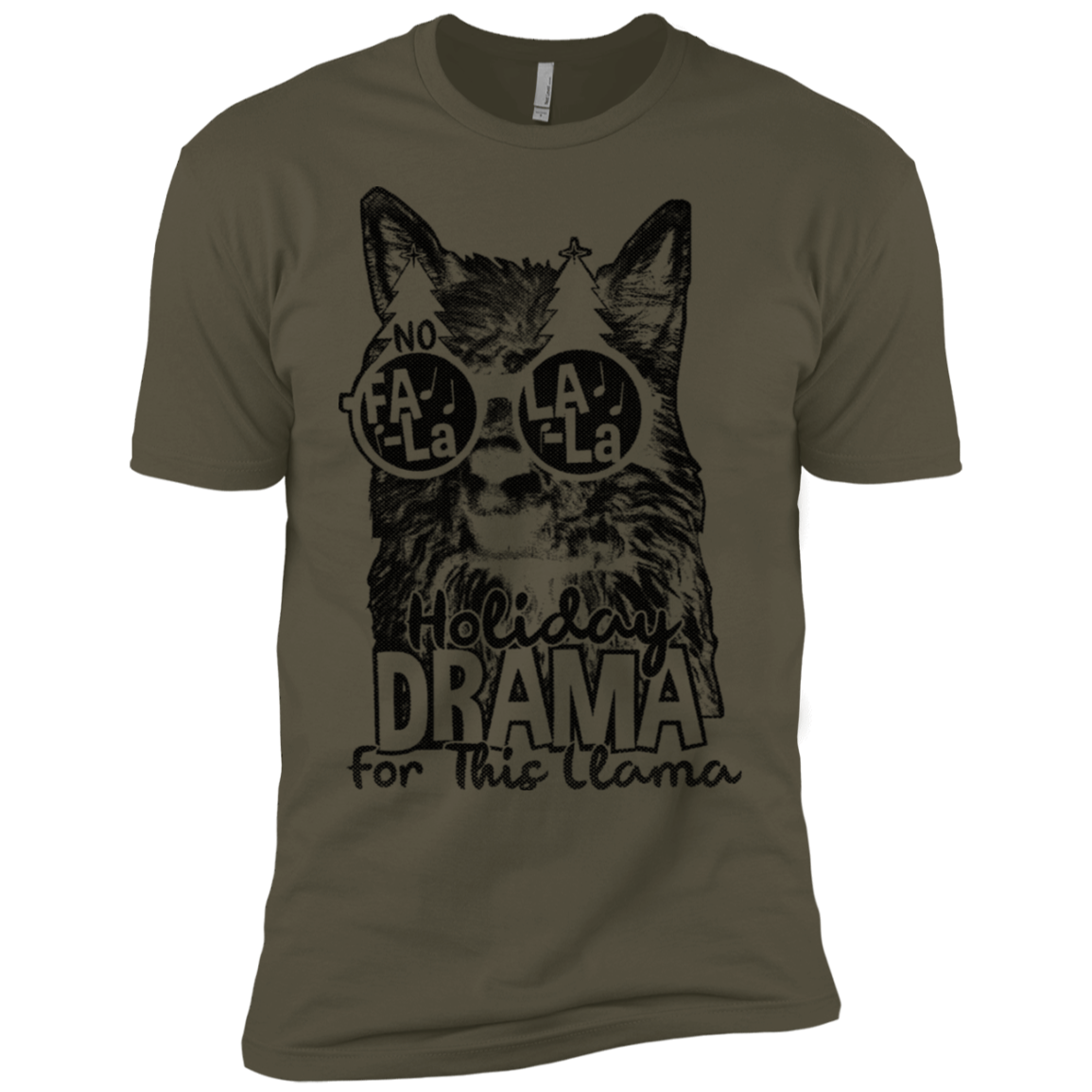 Holiday Drama For This Llama Men's Classic Tee