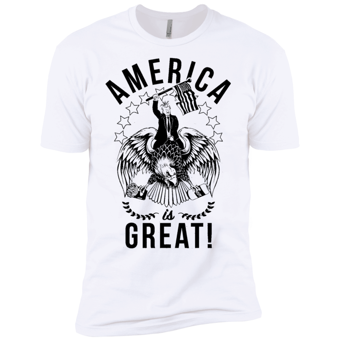 America is Great Trump Riding Eagle Men's Classic Tee - Trendy Tees