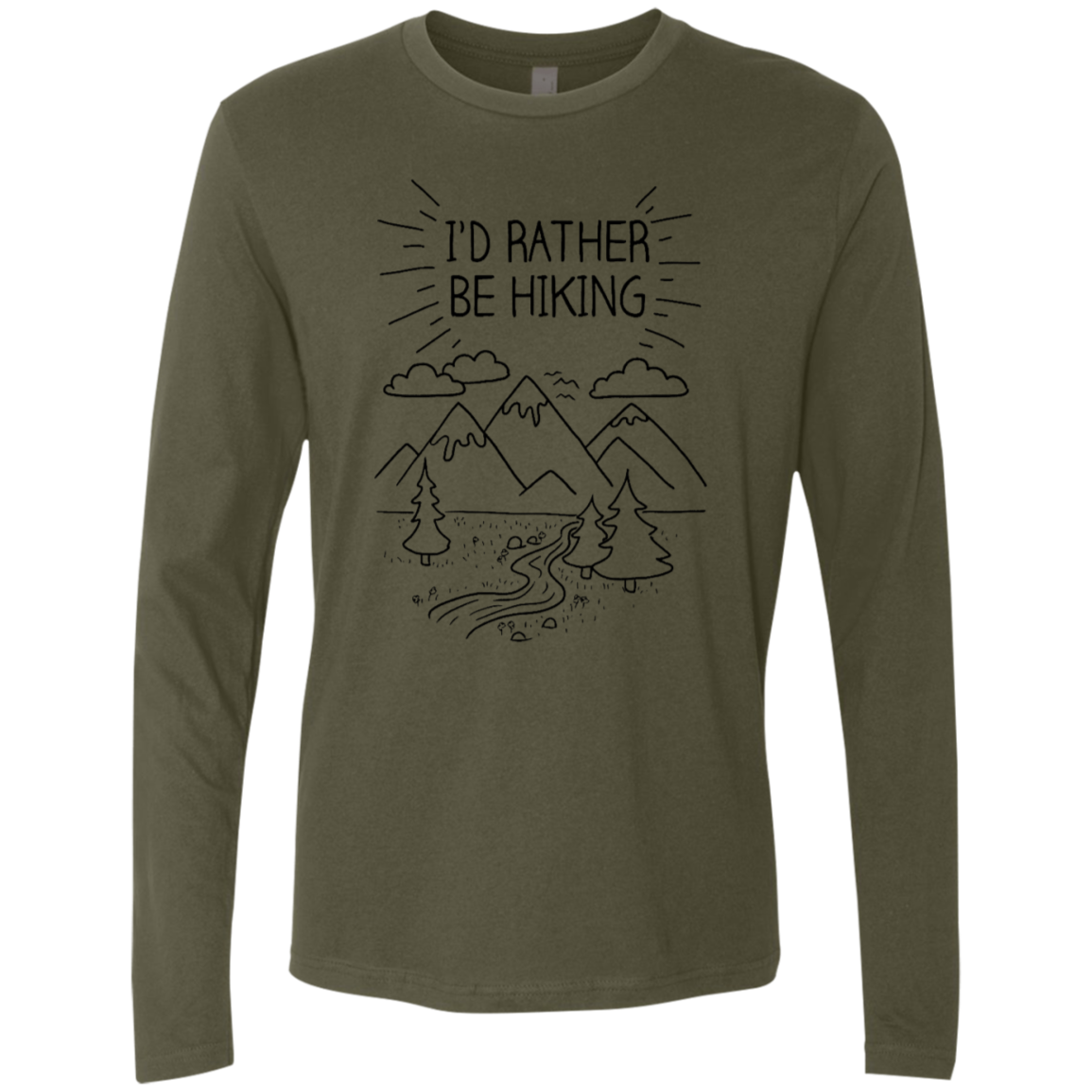 I'd Rather Be Hiking Men's Long Sleeve Tee