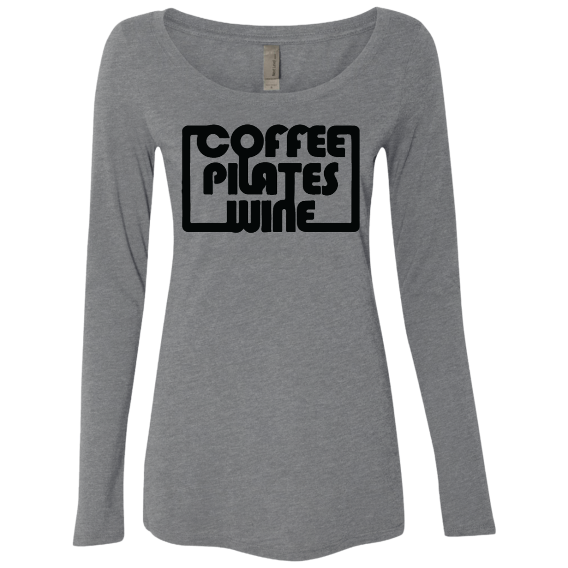 Coffee Pilates Wine Women's Long Sleeve Tee - Trendy Tees