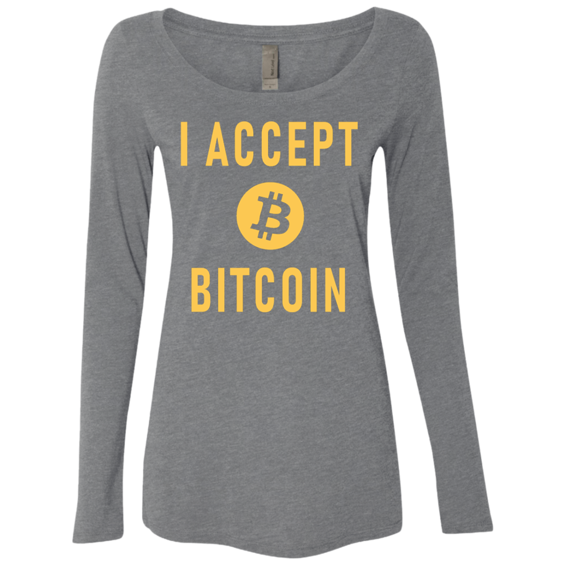 I Accept Bitcoin Women's Long Sleeve Tee
