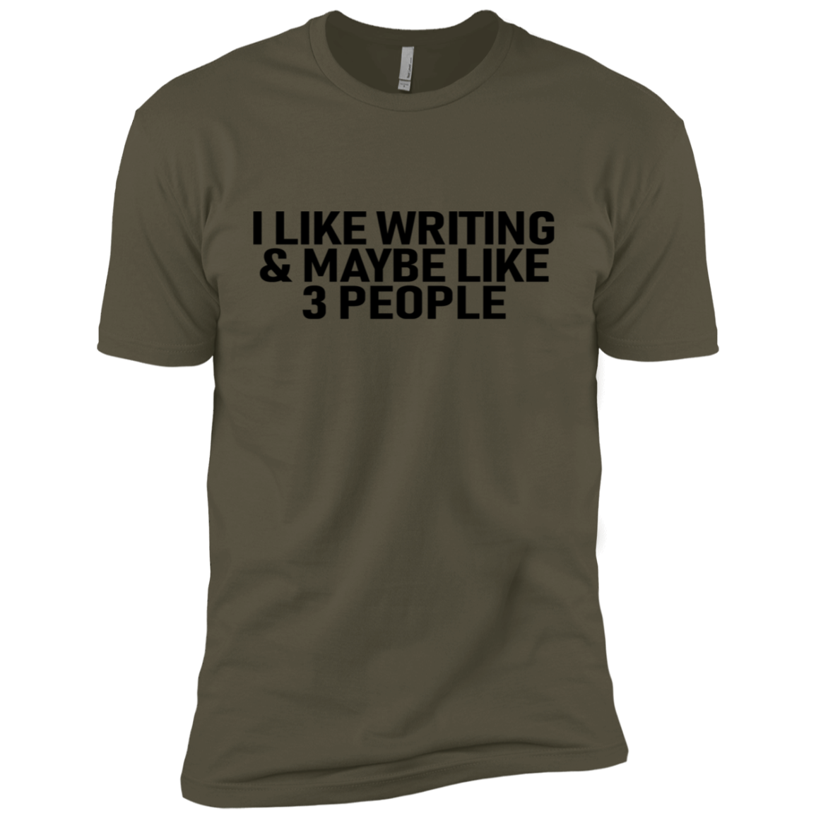 I Like Writing And Maybe 3 People Men's Classic Tee