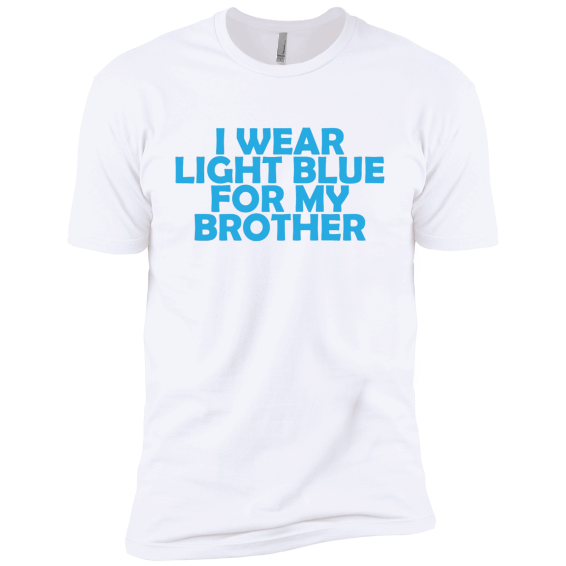I Wear Light Blue For My Brother Men's Classic Tee