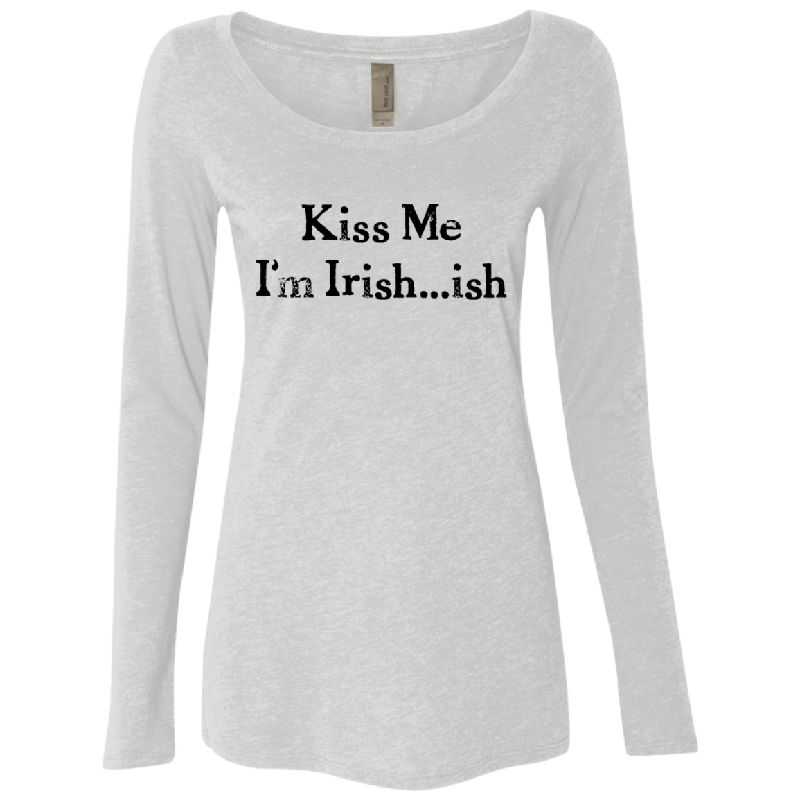 Kiss Me I'm Irish Women's Long Sleeve Tee