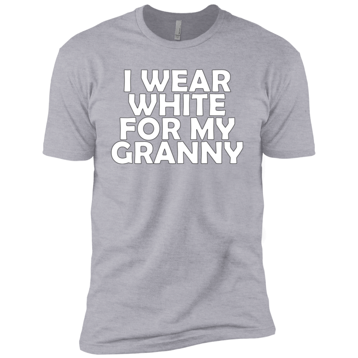 I Wear White For My Granny Men's Classic Tee