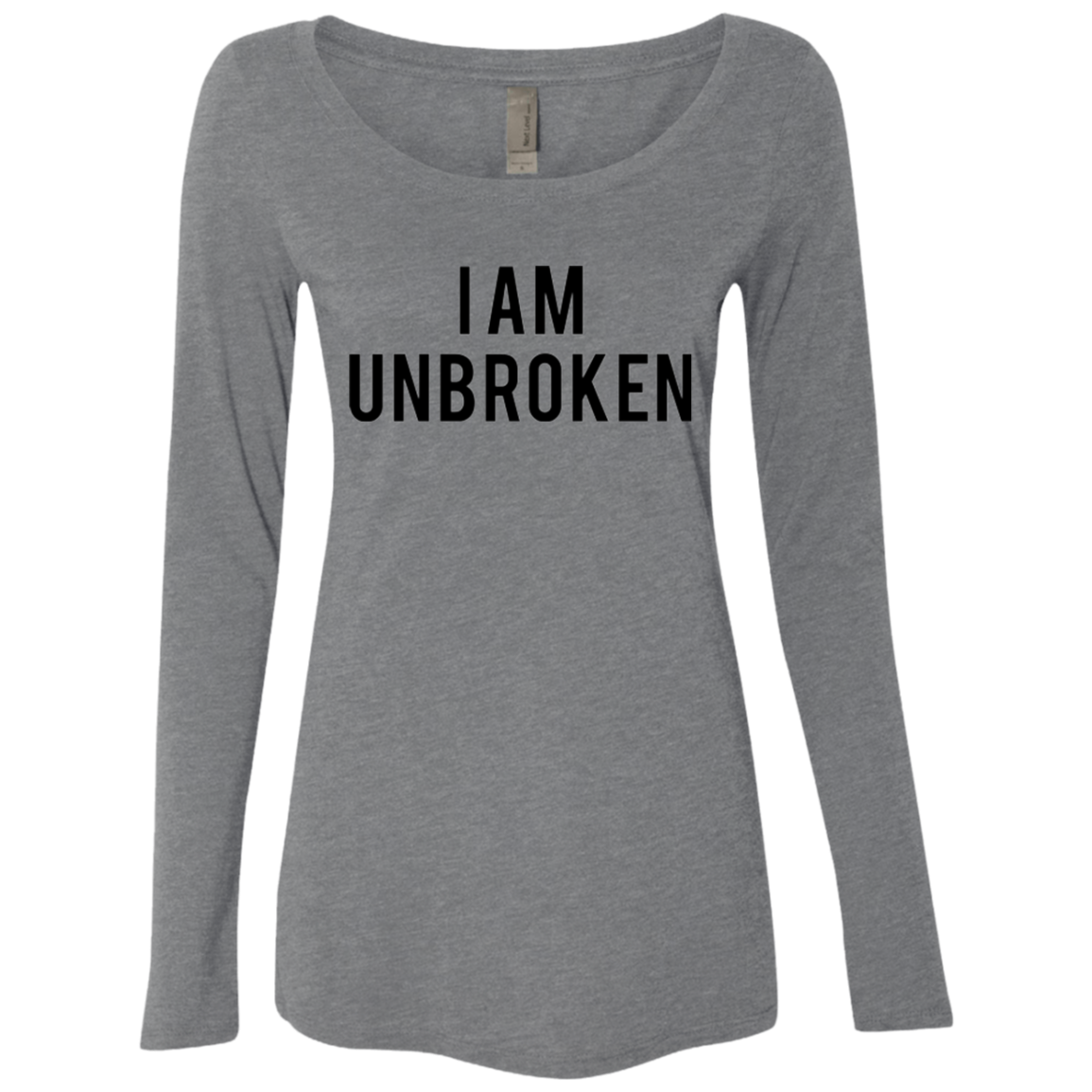 I Am Unbroken Women's Long Sleeve Tee - Trendy Tees